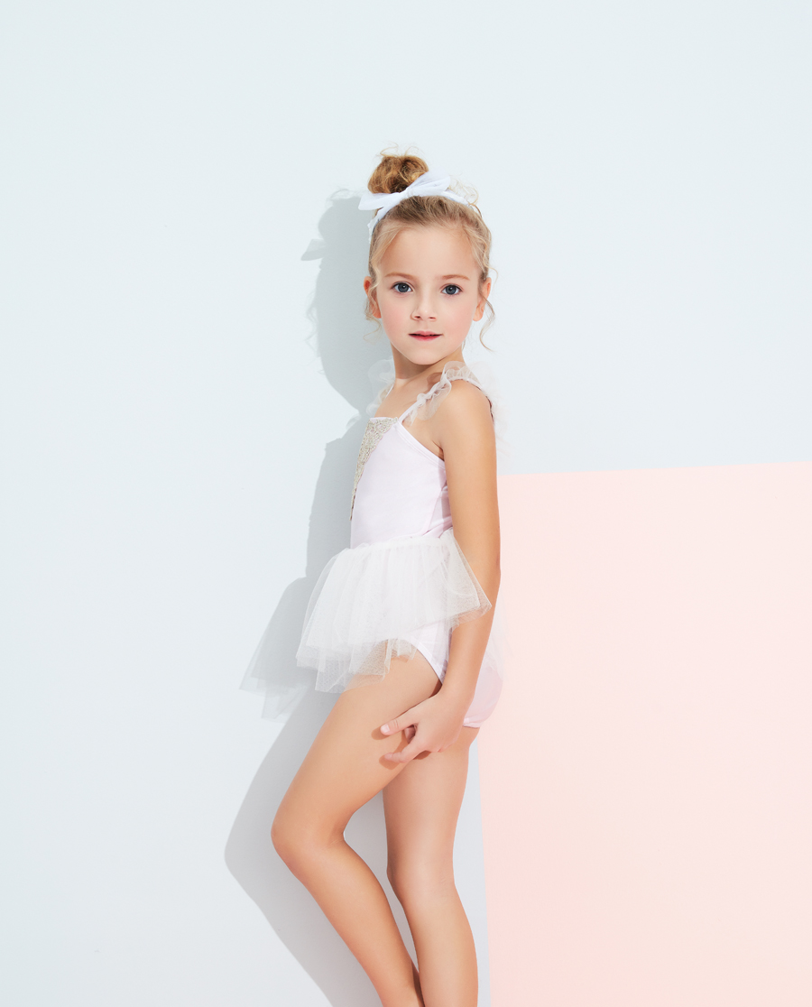Aimer Kids泳衣|爱慕儿童芭蕾公主女童连体泳衣AK1673
