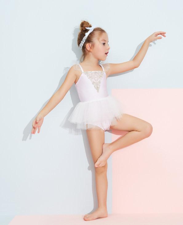 Aimer Kids泳衣 爱慕儿童芭蕾公主女童连体泳衣AK1673161