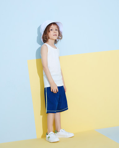 Aimer Kids睡衣|爱慕儿童天使背心棉打底校园打底纯棉背心AK3112801