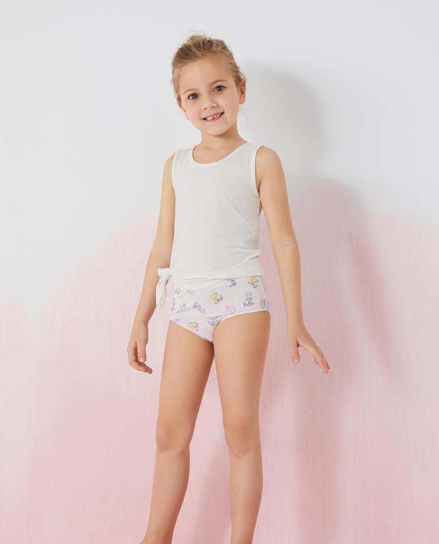 Aimer Kids內褲|愛慕兒童字母動物兒童中腰三角褲兩件包AK
