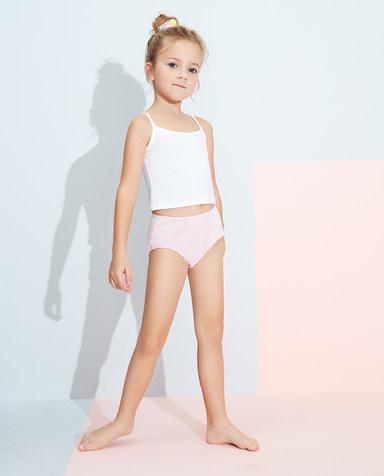 Aimer Kids内裤|爱慕儿童天使小裤清爽棉印花女孩蔬果时光局印面包裤AK1222833