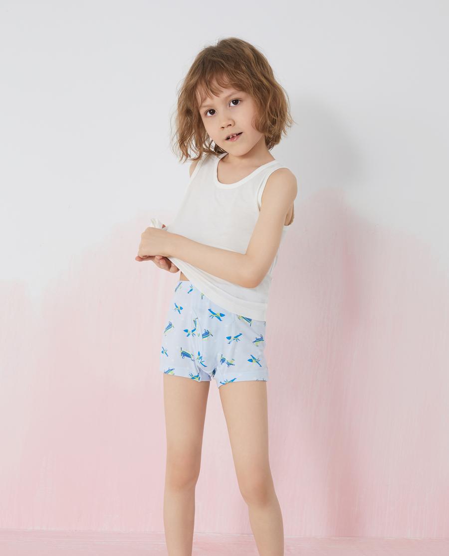Aimer Kids內褲|愛慕兒童旋轉飛機兒童中腰平角褲兩件包AK