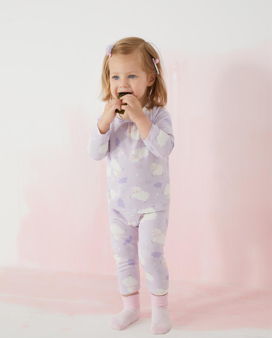 Aimer Baby保暖|愛慕嬰兒小羊云朵女嬰幼長袖上衣AB172
