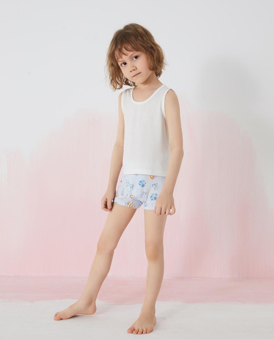 Aimer Kids內褲|愛慕兒童字母動物男孩中腰平角褲兩件包AK
