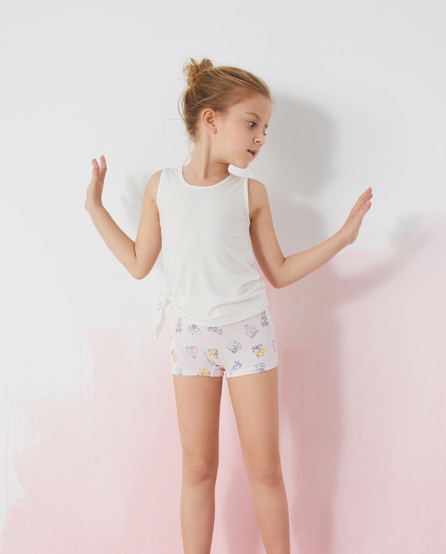 Aimer Kids內褲|愛慕兒童字母動物兒童中腰平角褲兩件包AK