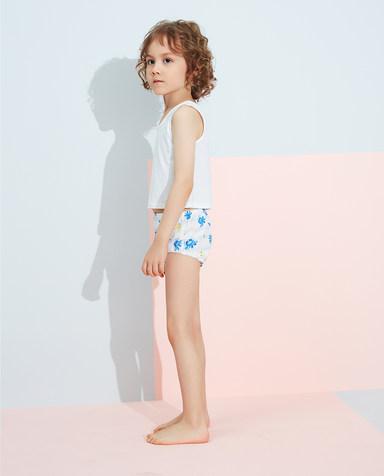Aimer Kids内裤|爱慕儿童天使小裤清爽棉印花男孩章鱼小家伙满印面包裤AK2222832