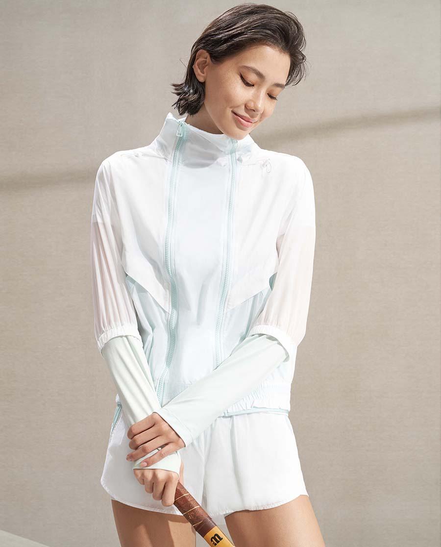 Aimer Sports睡衣  爱慕运动炫彩活力带帽薄外套AS144K41