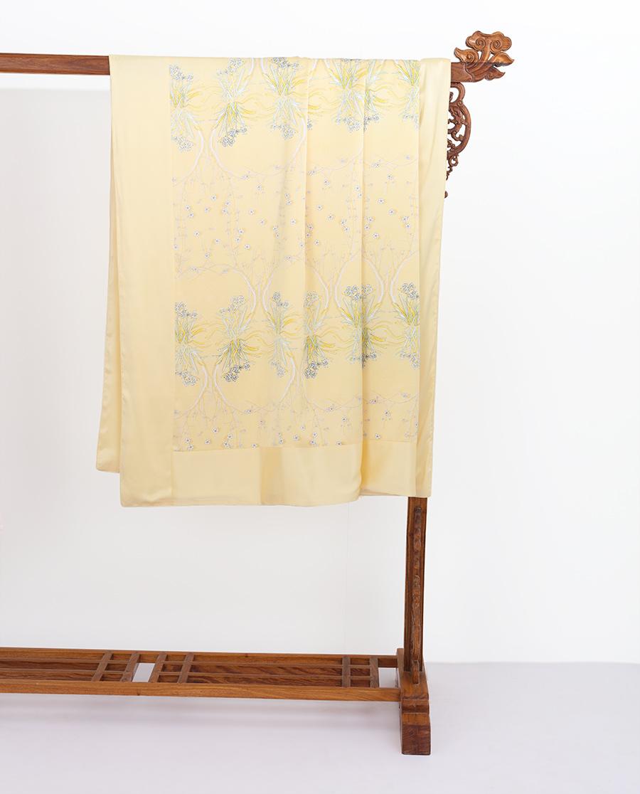EMPERORIENT配飾|皇錦印花蠶絲被套-玉臺金盞HJ11389