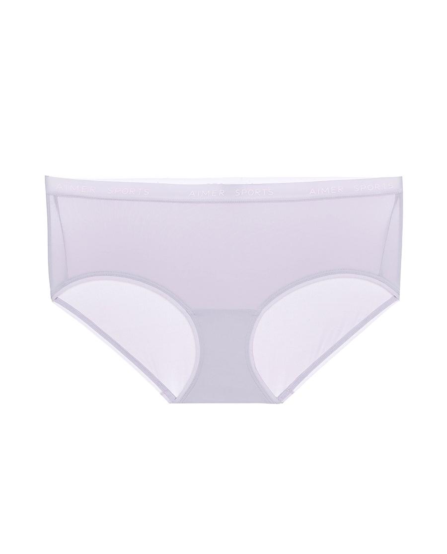 Aimer Sports内裤|爱慕运动女神瑜伽中腰平角裤AS123K2