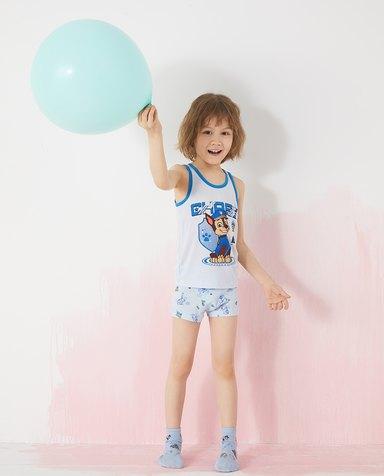 Aimer Kids内裤|爱慕儿童天使小裤棉氨纶汪汪队男孩线描狗组合中腰平角裤AK2234111