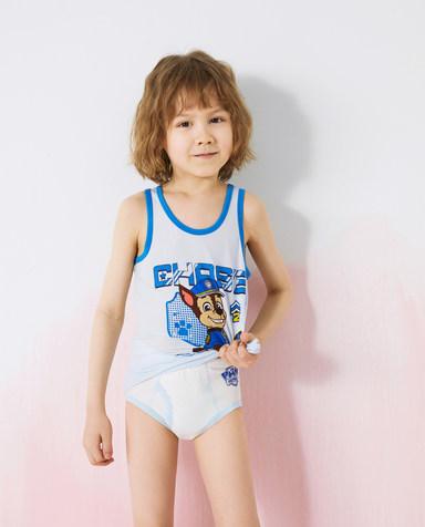 Aimer Kids内裤|爱慕儿童天使小裤MODAL汪汪队男孩拍档三狗狗中腰三角裤AK2224082