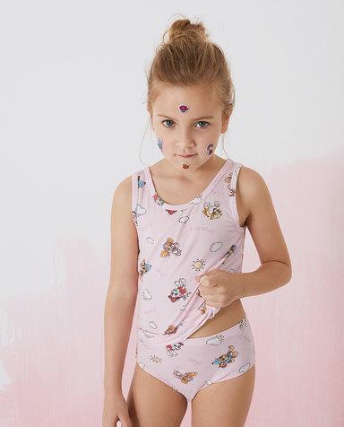 Aimer Kids内裤|爱慕儿童天使小裤MODAL汪汪队女孩阳光狗狗中腰三角裤AK1224081