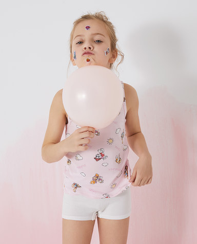 Aimer Kids内裤|爱慕儿童天使小裤棉氨纶汪汪队女孩阳光天天中腰平角裤AK1234111