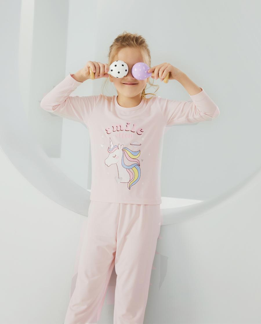 Aimer Kids睡衣|愛慕兒童夢幻天馬女孩長袖家居套裝AK14
