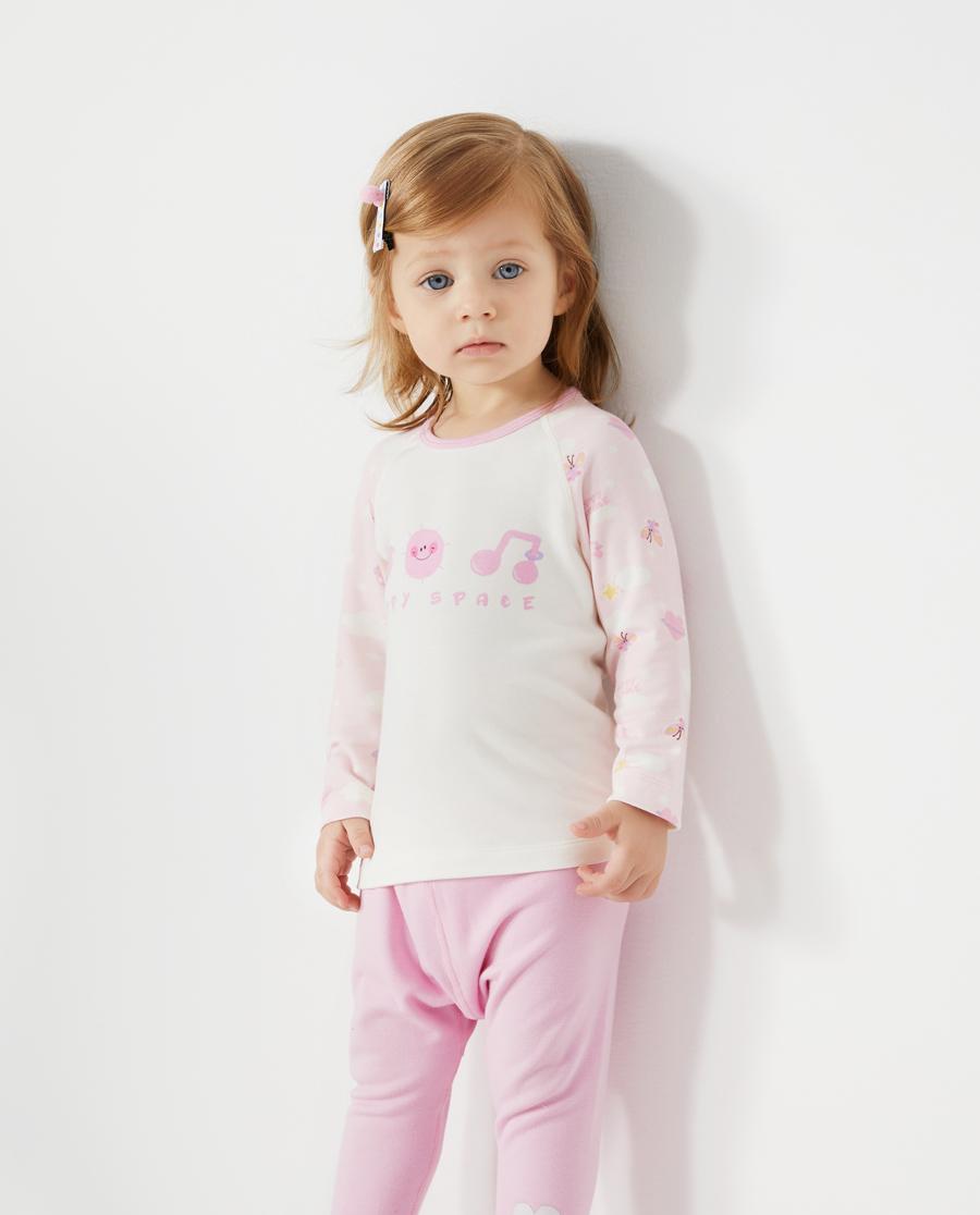 Aimer Baby保暖|爱慕婴儿快乐星球女婴幼长袖上衣AB172
