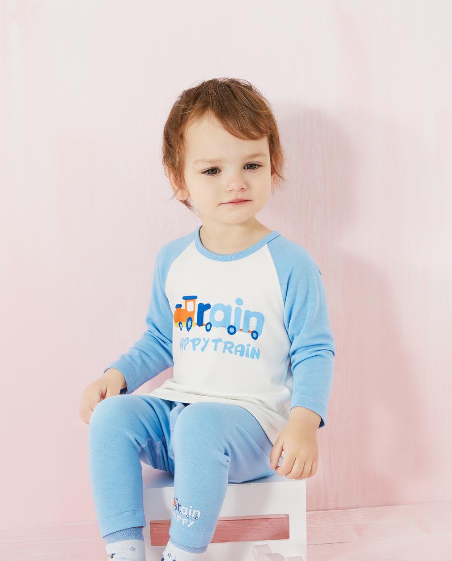 Aimer Baby保暖|爱慕婴儿快乐火车男婴幼长袖上衣AB272