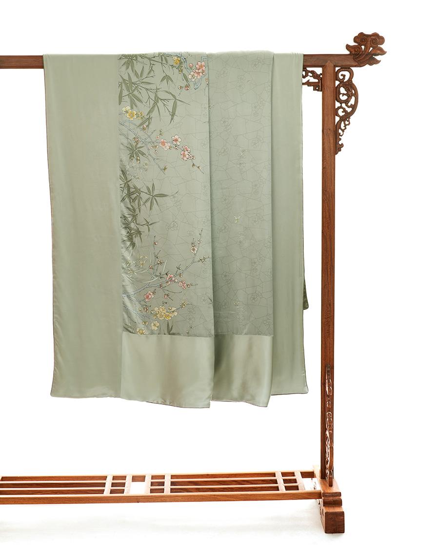 EMPERORIENT配饰| 皇锦印花蚕丝被-梅兰竹菊冰裂纹HJ11