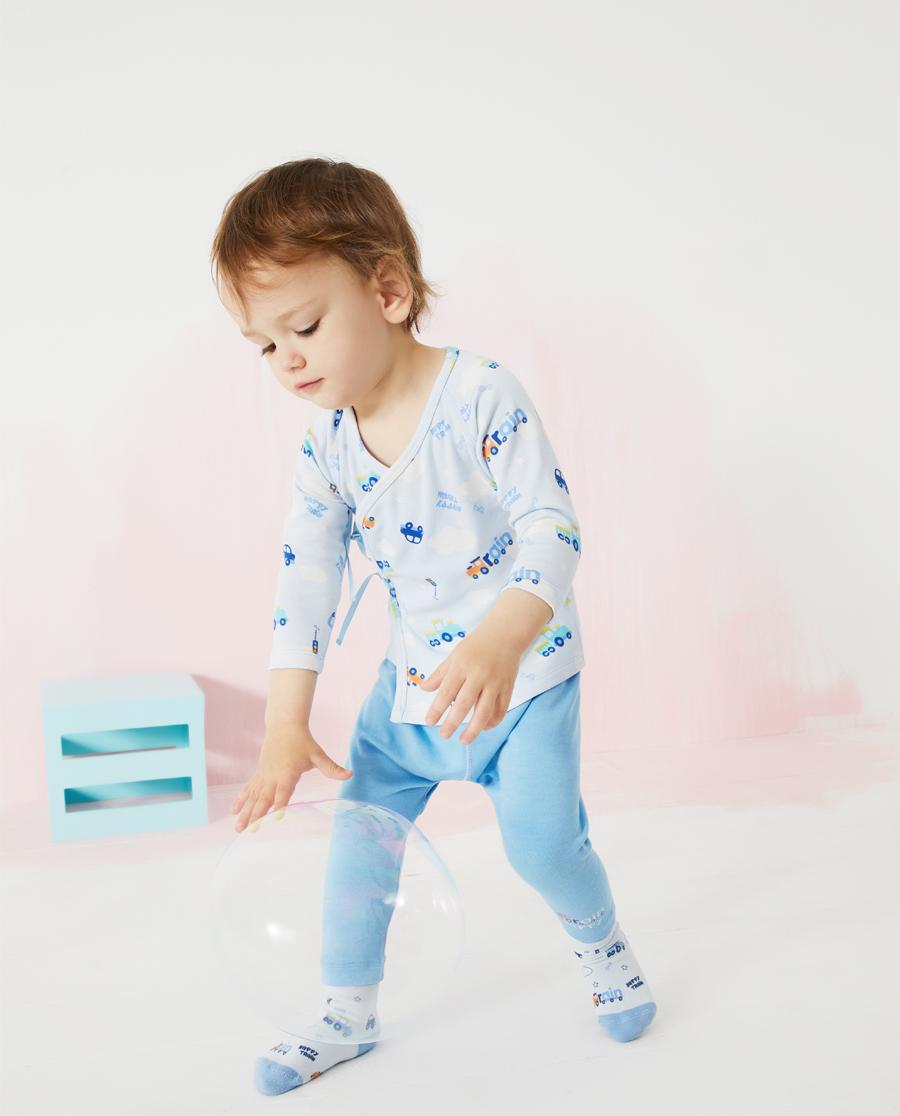 Aimer Baby保暖|爱慕婴儿快乐火车男婴幼系绳长袖AB272