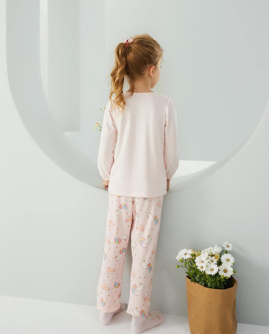 爱慕儿童彩虹猫女孩长睡裤AK1423731