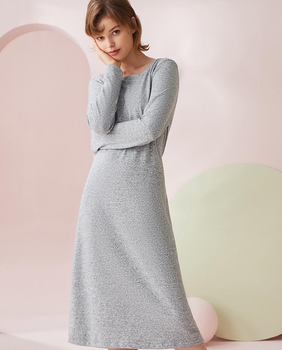HUXI睡衣|乎兮长款H型偏宽松睡裙HX442034