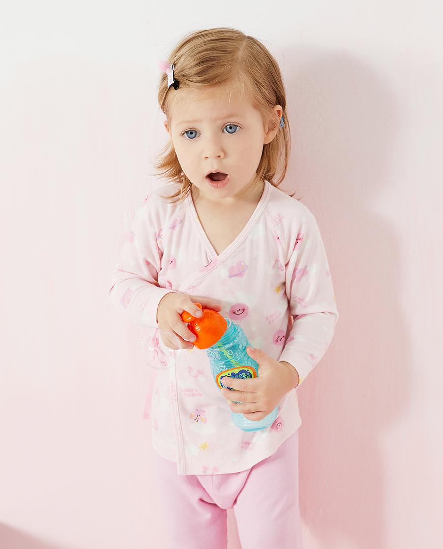Aimer Baby保暖|爱慕婴儿快乐星球女婴幼系绳长袖AB172