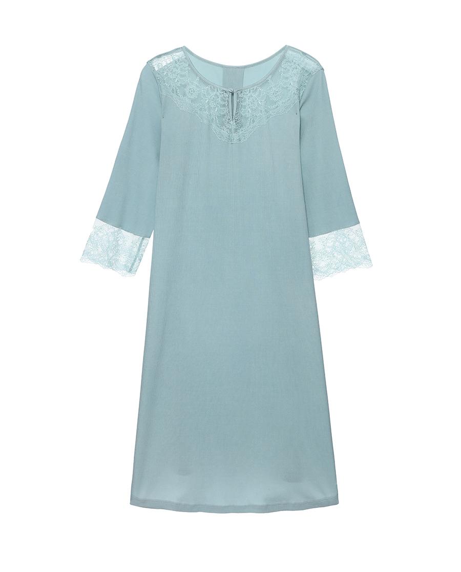Aimer睡衣| 爱慕享眠七分袖中长睡裙AM445321