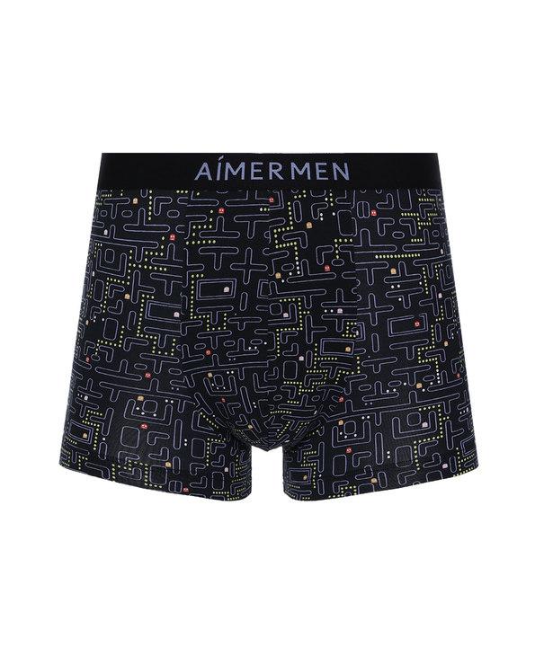 Aimer Men内裤|爱慕先生印花主题内裤中腰平角裤NS23D741