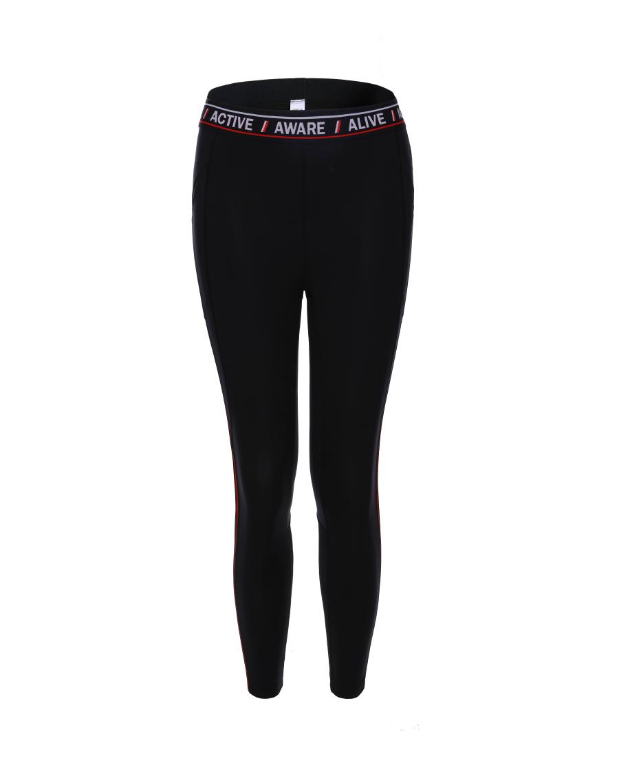 Aimer Sports运动装|爱慕运动行动派跑步八分裤AS153K81