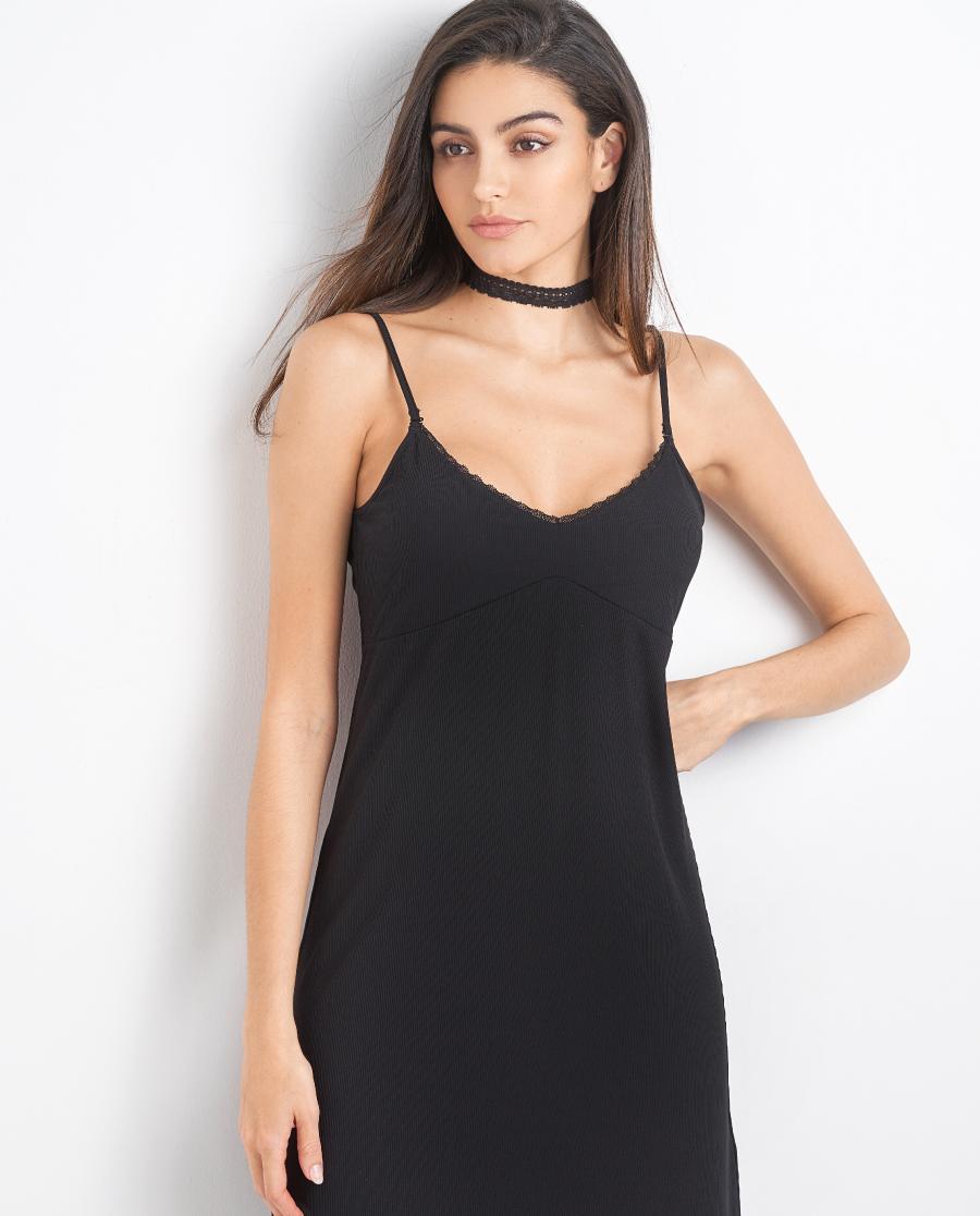 Aimer睡衣|爱慕螺纹吊裙吊裙AM424421