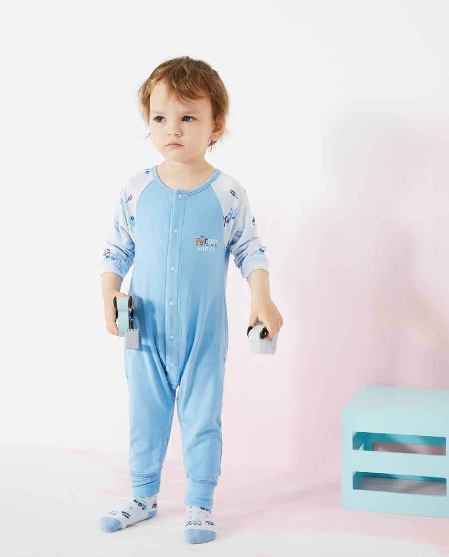Aimer Baby睡衣 爱慕婴儿快乐火车男婴幼长款分腿睡袋AB2