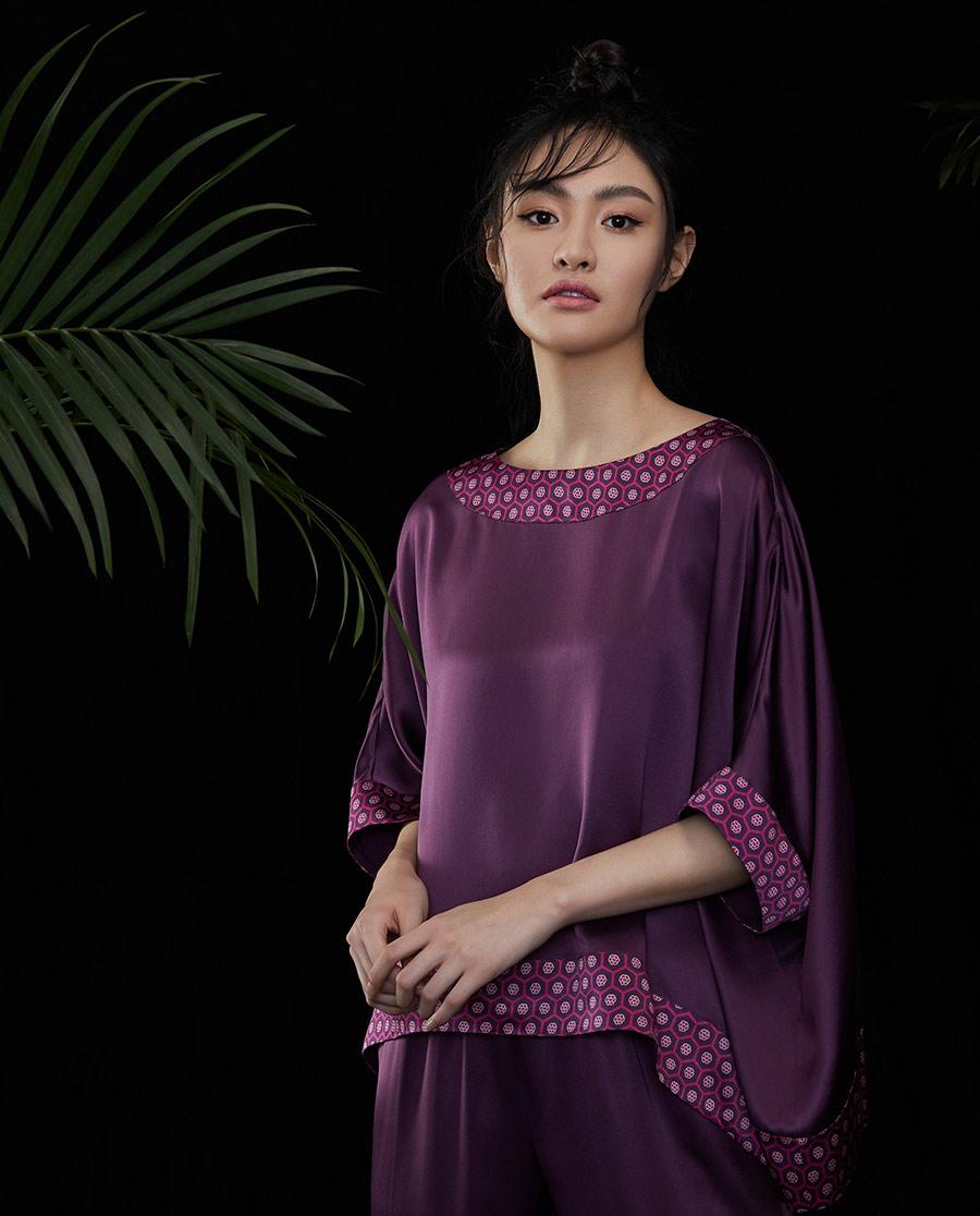EMPERORIENT睡衣|皇锦蝙蝠袖分身套装HJ21295