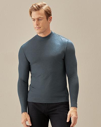 Aimer Men保暖|爱慕先生20AW牛奶丝绒暖时尚小高领上衣NS72D461