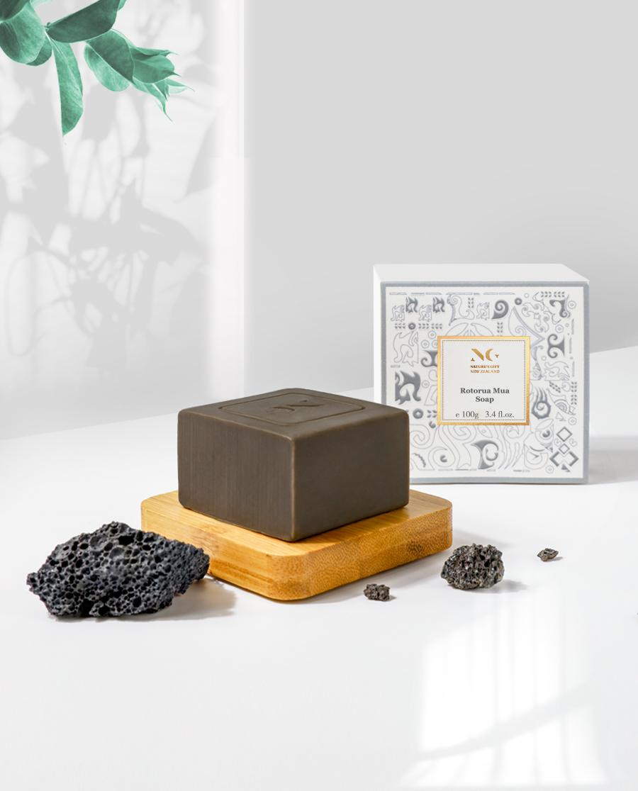 Nature's Gift护肤|纽格芙罗托鲁阿火山泥洁肤皂NG10505