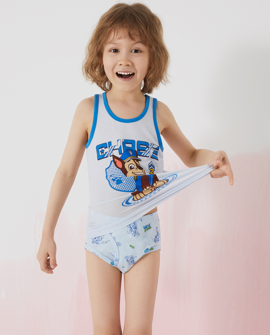 Aimer Kids内裤|爱慕儿童天使小裤棉氨纶汪汪队男孩线描狗组