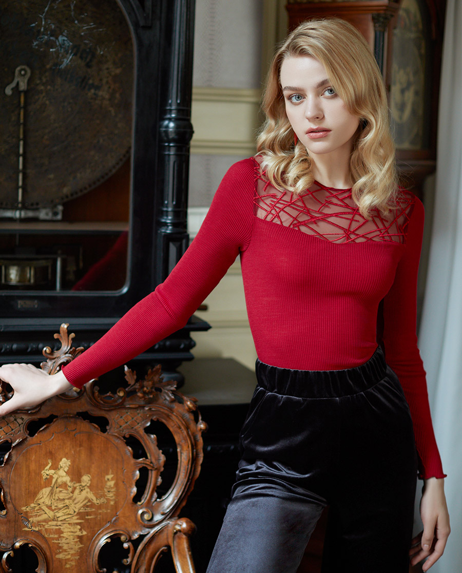 Oscalito保暖|法布勒斯系列圆领长袖针织衫OS5842