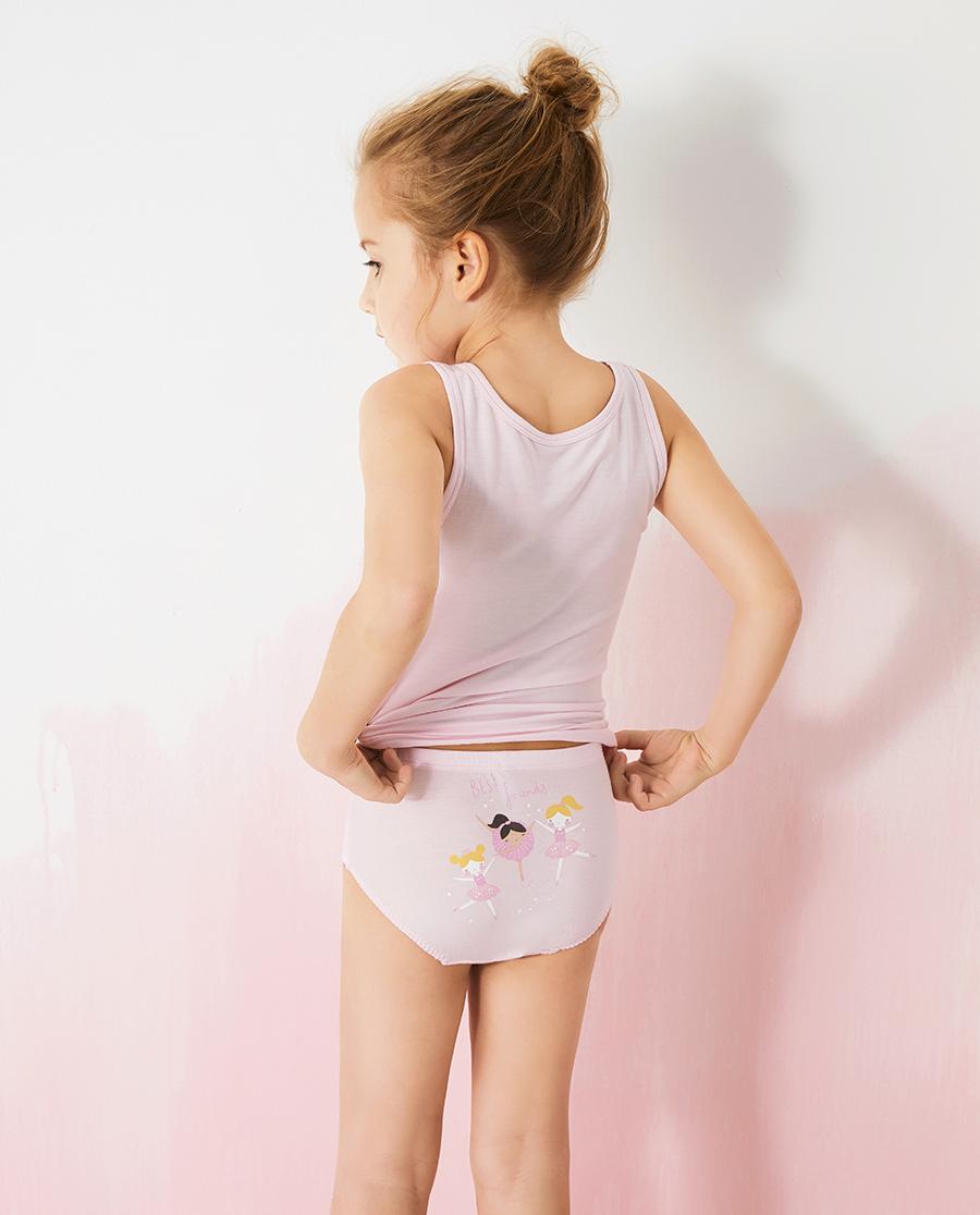 Aimer Kids内裤|爱慕儿童天使小裤MODAL印花女孩芭蕾女