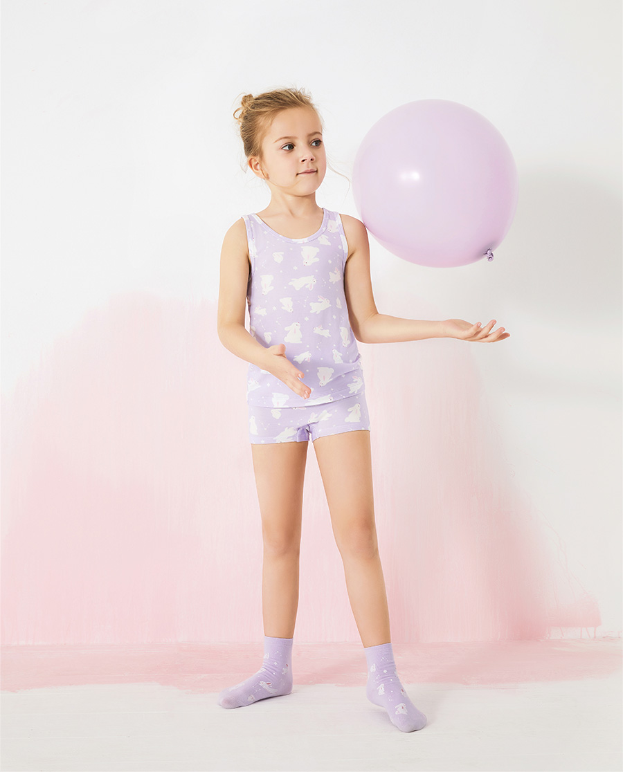 Aimer Kids内裤|爱慕儿童天使小裤MODAL印花女孩许愿兔