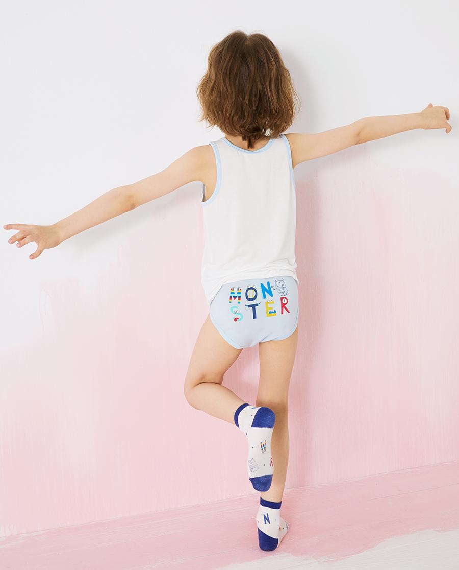 Aimer Kids内裤|爱慕儿童天使小裤MODAL印花男孩字母小