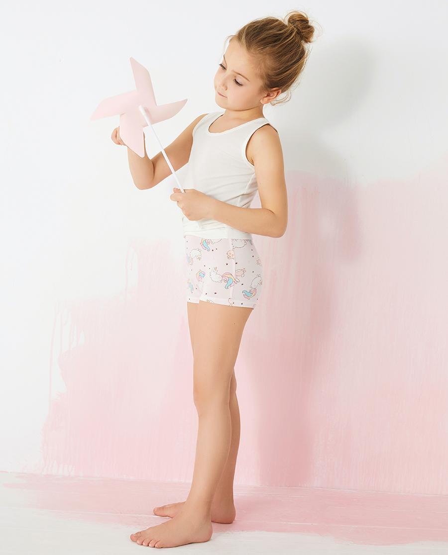 Aimer Kids内裤|爱慕儿童天使小裤MODAL印花女孩彩虹猫