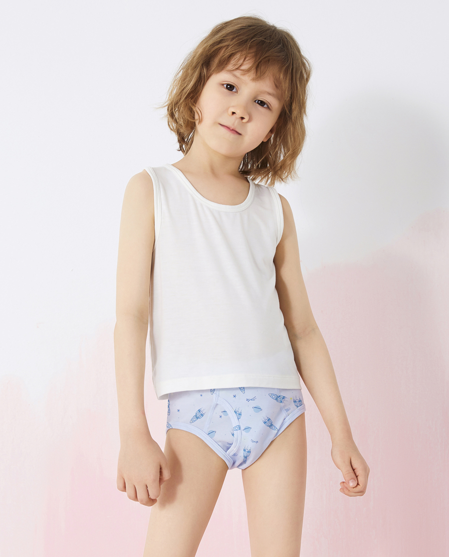 Aimer Kids内裤|爱慕儿童天使小裤MODAL印花男孩火箭中