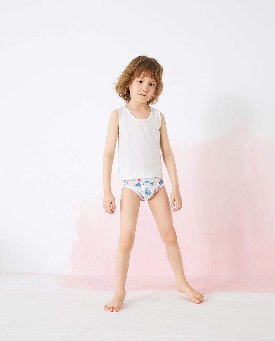Aimer Kids内裤|爱慕儿童天使小裤棉氨纶印花男孩恐龙中腰三