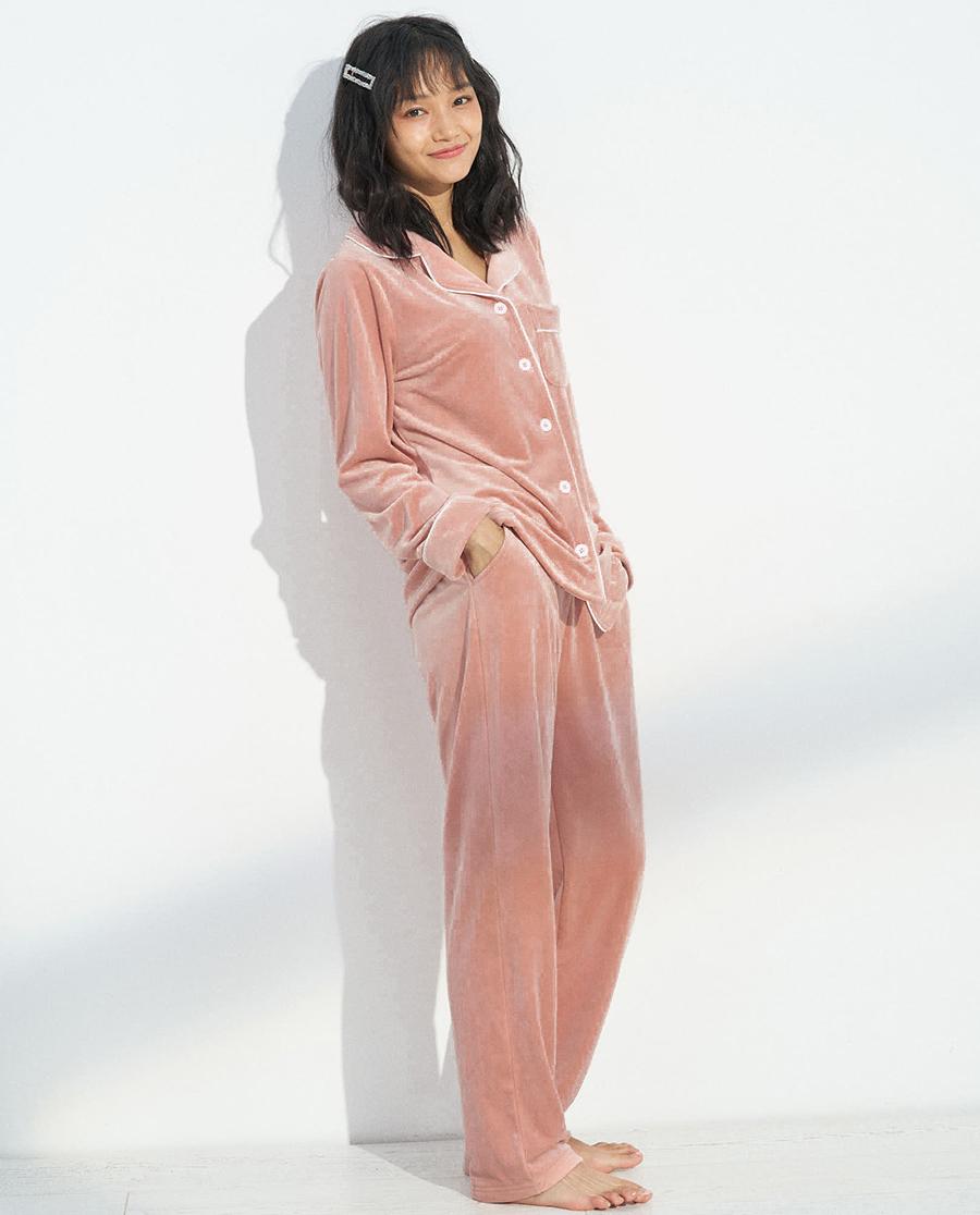 IMIS睡衣|爱美丽家居你的名字开衫长袖上衣IM45B