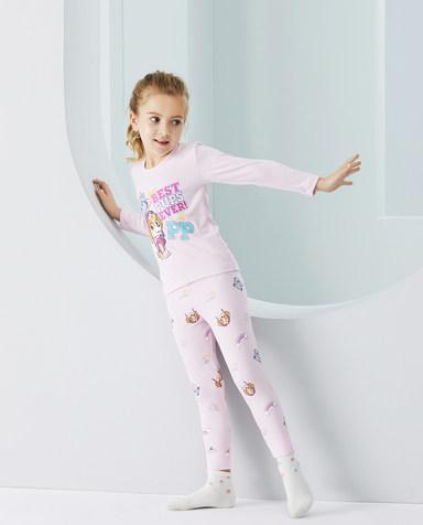 Aimer Kids保暖|爱慕儿童汪汪队最佳狗狗女孩长裤AK1734271
