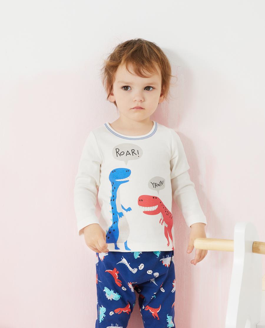 Aimer Baby保暖|爱慕婴儿恐龙小伙伴男婴幼长袖上衣AB27