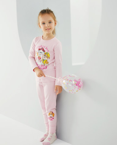 Aimer Kids保暖|爱慕儿童汪汪队暖阳新意女孩双层长裤AK1734352