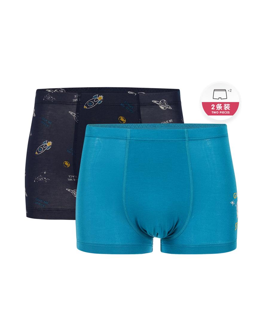 Aimer Junior内裤|爱慕少年探秘太空少男中腰平角裤两件包AJ