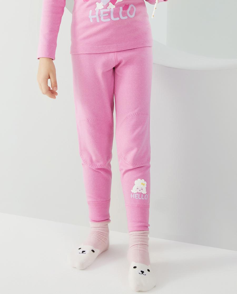 Aimer Kids保暖|爱慕儿童20AW暖阳新意女孩单层长裤AK
