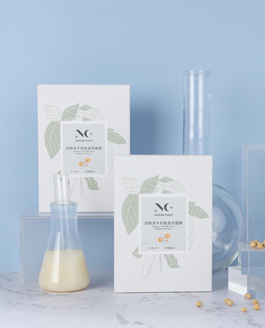Nature's Gift护肤|纽格芙牛奶肌提亮面膜NG10602