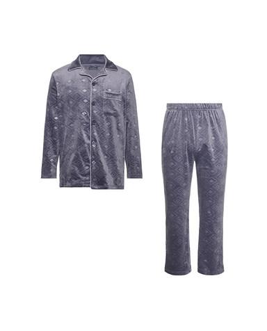 Body Wild睡衣|爱慕旗下宝迪威德 暖绒家居 开襟长袖+长裤 ZBN43RY1
