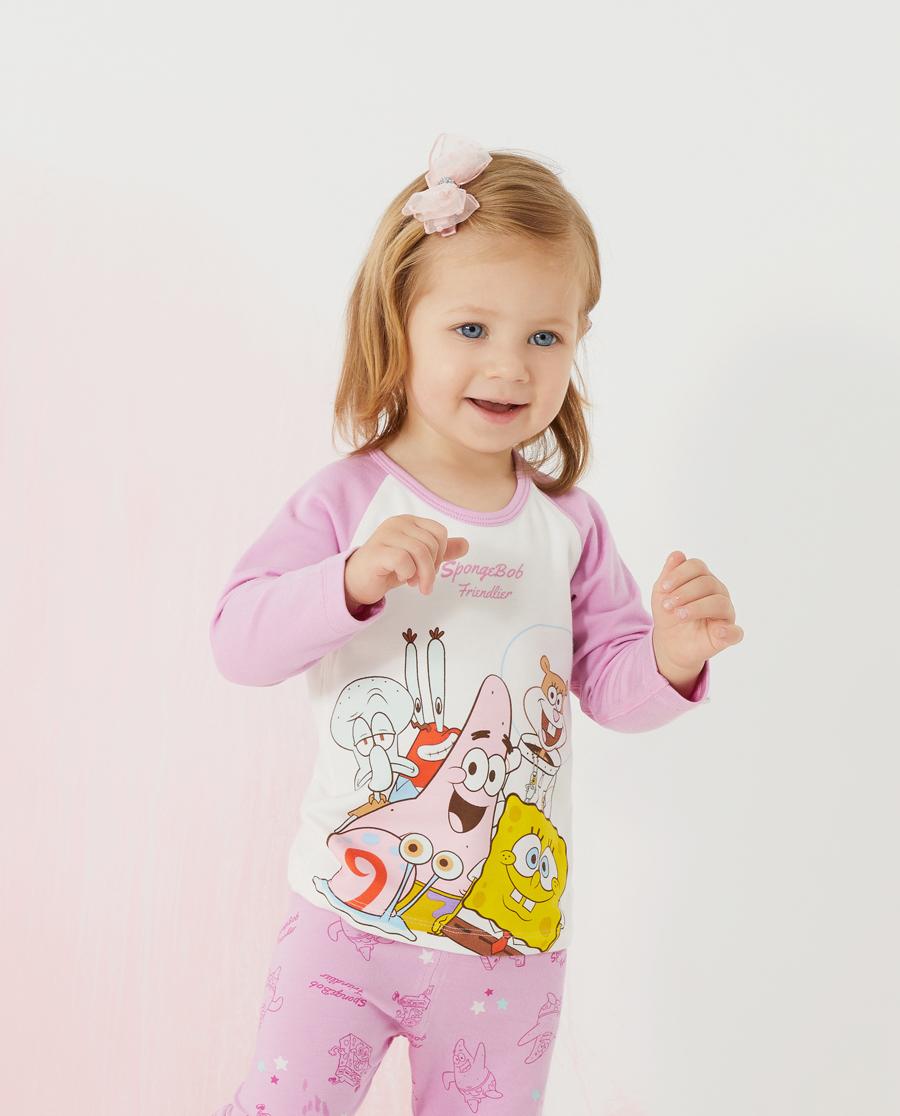爱慕婴儿海绵宝宝的朋友们女婴幼长袖上衣AB1723701
